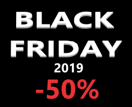 Black Friday: discounts up to 50%